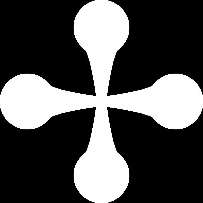 Picto croix Provence Occitane blanc