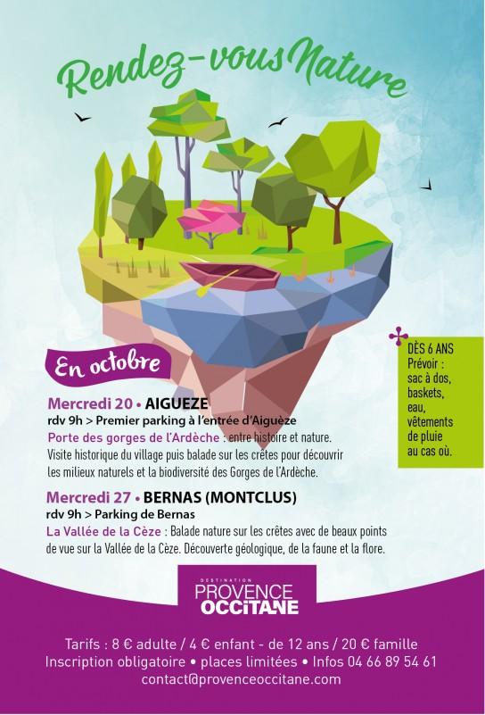 Affiche rdv nature Montclus