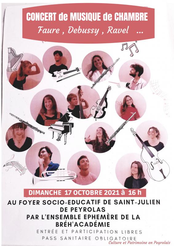Concert de musique de chambre à Saint-Julien-de-Peyrolas
