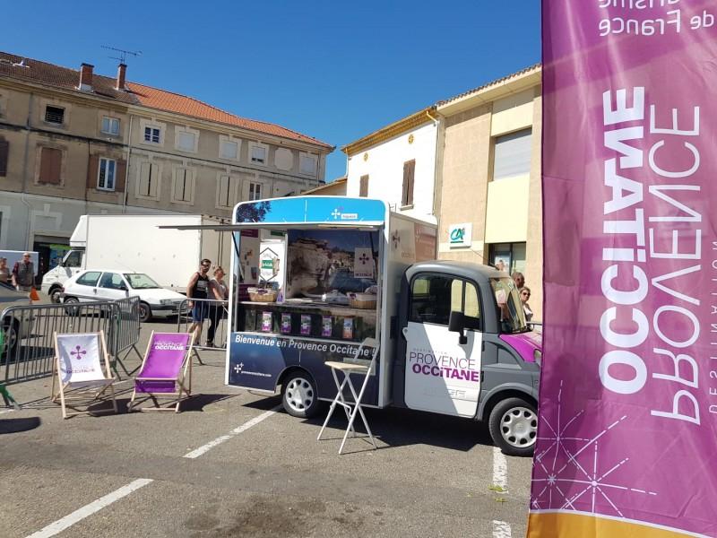 Le #touristtruck de #laProvenceOccitane à Pont-Saint-Esprit