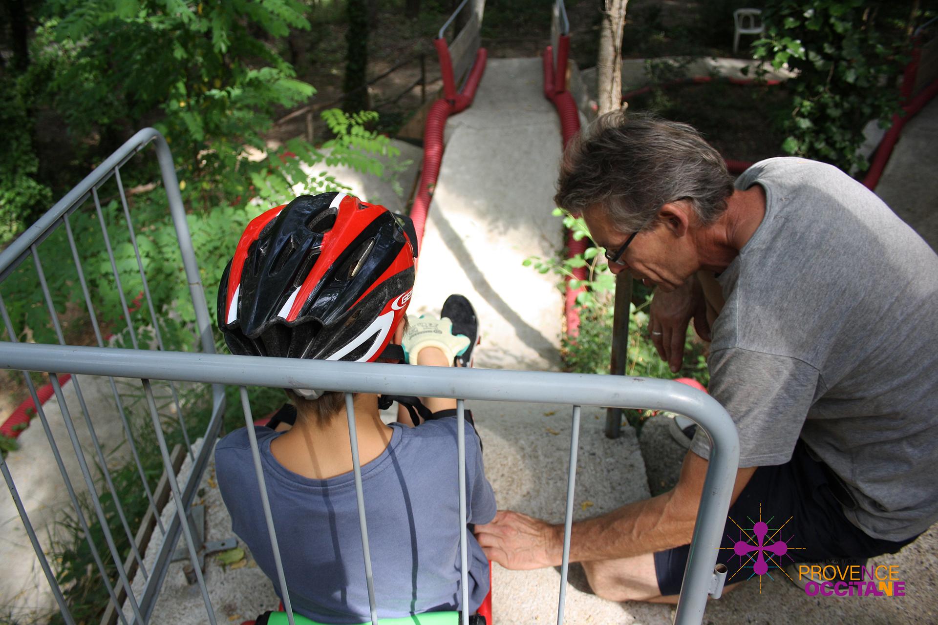 Securité au Swingroller City Parc d'Aiguèze